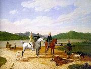 Wilhelm von Kobell Hunting Party on Lake Tegernsee oil painting artist