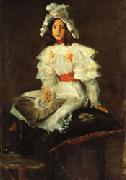 William Merritt Chase Girl in White oil painting artist