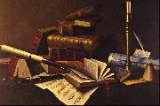 William Michael Harnett Music and Literature oil painting artist