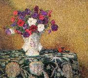 Wilson Irvine Still Life with Petunias oil painting artist