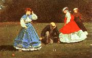 Winslow Homer The Croquet Game oil painting picture wholesale
