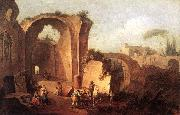ZAIS, Giuseppe Landscape with Ruins and Archway oil painting picture wholesale