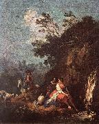 ZUCCARELLI  Francesco Landscape with a Rider oil painting artist