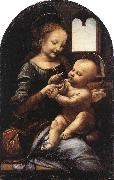 Leonardo  Da Vinci Madonna Benois Madonna with a Flower oil painting picture wholesale