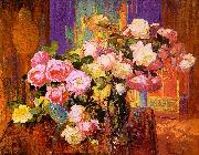 Bischoff, Franz Roses oil painting