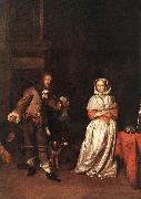 METSU, Gabriel The Hunter and a Woman sg oil painting picture wholesale