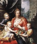 MOREELSE, Paulus Sophia Hedwig, Countess of Nassau Dietz, with her Three Sons sg oil painting artist