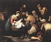 MURILLO, Bartolome Esteban Adoration of the Shepherds zg oil painting artist