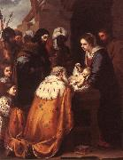 MURILLO, Bartolome Esteban Adoration of the Magi sg oil painting artist