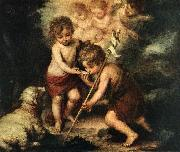 MURILLO, Bartolome Esteban Children with Shell sg oil painting picture wholesale