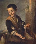 MURILLO, Bartolome Esteban Boy with a Dog sgh oil painting artist