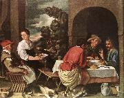 ORRENTE, Pedro The Supper at Emmaus ag oil