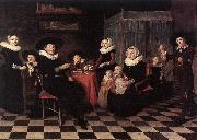 PALAMEDESZ, Antonie Family Portrait ga oil painting artist