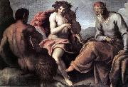 PALMA GIOVANE Apollo and Marsyas (1)a sg oil painting artist
