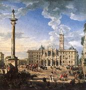 PANNINI, Giovanni Paolo The Piazza and Church of Santa Maria Maggiore ch oil painting picture wholesale