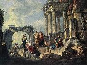 PANNINI, Giovanni Paolo Apostle Paul Preaching on the Ruins af oil painting picture wholesale