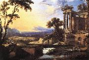 PATEL, Pierre Landscape with Ruins ag oil painting artist
