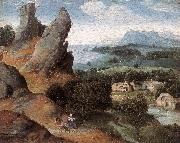PATENIER, Joachim Landscape with the Flight into Egypt agh oil painting picture wholesale