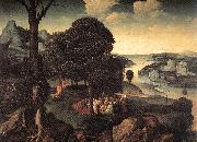 PATENIER, Joachim Landscape with St John the Baptist Preaching a oil painting picture wholesale