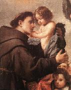 PEREDA, Antonio de St Anthony of Padua with Christ Child (detail) wsg oil painting artist