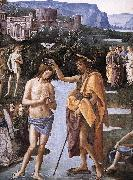 PERUGINO, Pietro Baptism of Christ (detail) a oil painting picture wholesale