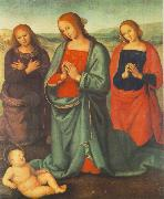 PERUGINO, Pietro Madonna with Saints Adoring the Child a oil painting picture wholesale
