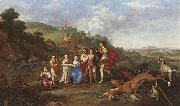 POELENBURGH, Cornelis van Children of Frederick V Prince Elector of Pfalz and King of Bohemia s oil painting picture wholesale
