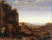 POELENBURGH, Cornelis van Rest on the Flight into Egypt af oil