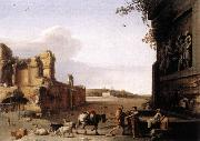 POELENBURGH, Cornelis van Ruins of Ancient Rome af oil