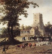 POST, Pieter Jansz Italianate Landscape with the Parting of Jacob and Laban zg oil painting artist