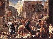 POUSSIN, Nicolas The Plague at Ashdod asg oil painting picture wholesale