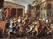 POUSSIN, Nicolas The Rape of the Sabine Women af oil painting picture wholesale