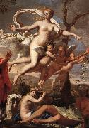 POUSSIN, Nicolas Venus Presenting Arms to Aeneas (detail) af oil painting picture wholesale