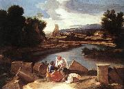 POUSSIN, Nicolas Landscape with St Matthew and the Angel sg oil painting picture wholesale