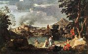 POUSSIN, Nicolas Landscape with Orpheus and Euridice sg oil painting picture wholesale