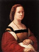RAFFAELLO Sanzio Portrait of a Woman (La Donna Gravida) drty oil painting picture wholesale