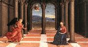 RAFFAELLO Sanzio The Annunciation (Oddi altar, predella) t oil painting artist