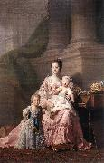 RAMSAY, Allan Queen Charlotte with her Two Children dy oil painting picture wholesale
