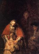 REMBRANDT Harmenszoon van Rijn The Return of the Prodigal Son (detail) oil painting picture wholesale