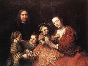 REMBRANDT Harmenszoon van Rijn Family Group oil painting picture wholesale
