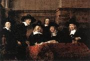 REMBRANDT Harmenszoon van Rijn Sampling Officials of the Drapers' Guild oil painting picture wholesale