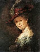 REMBRANDT Harmenszoon van Rijn Portrait of the Young Saskia xfg oil painting picture wholesale