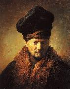 REMBRANDT Harmenszoon van Rijn Bust of an Old Man in a Fur Cap fj oil painting picture wholesale