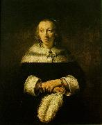REMBRANDT Harmenszoon van Rijn Portrait of a Lady with an Ostrich-Feather Fan fh oil painting picture wholesale