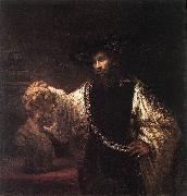 REMBRANDT Harmenszoon van Rijn Aristotle with a Bust of Homer  jh oil painting picture wholesale