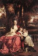 REYNOLDS, Sir Joshua Lady Elizabeth Delm and her Children oil painting picture wholesale