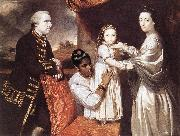 REYNOLDS, Sir Joshua George Clive and his Family with an Indian Maid oil painting picture wholesale