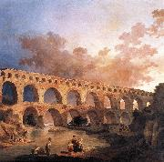 ROBERT, Hubert The Pont du Gard AF oil painting artist