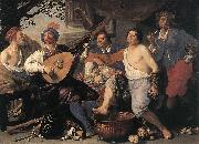 ROMBOUTS, Theodor Allegory of the Five Senses oil painting picture wholesale
