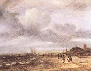 RUISDAEL, Jacob Isaackszon van The Shore at Egmond-an-Zee  d oil painting picture wholesale